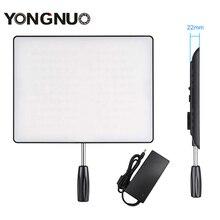 Yongnuo yn600 ar ultra fino levou luz de vídeo da câmera 3200 k-5500 k + adaptador de energia ac