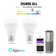 GLEDOPTO zigbee 3.0 6W RGB+dual white led bulb Zigbee zll lingt link smart  compatible with ZigBee and many gateways