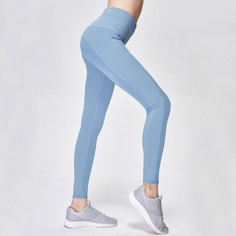 High Waisted Yoga Pants Shark Gym Seamless Leggings High Elastic Exercise Tights Women Pants for Fitness Yoga Running Sports