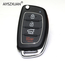AIYSZXUAN Remote Key Case Fob 3 Button Flip Folding Key Shell For Mistra Hyundai Solaris ix35