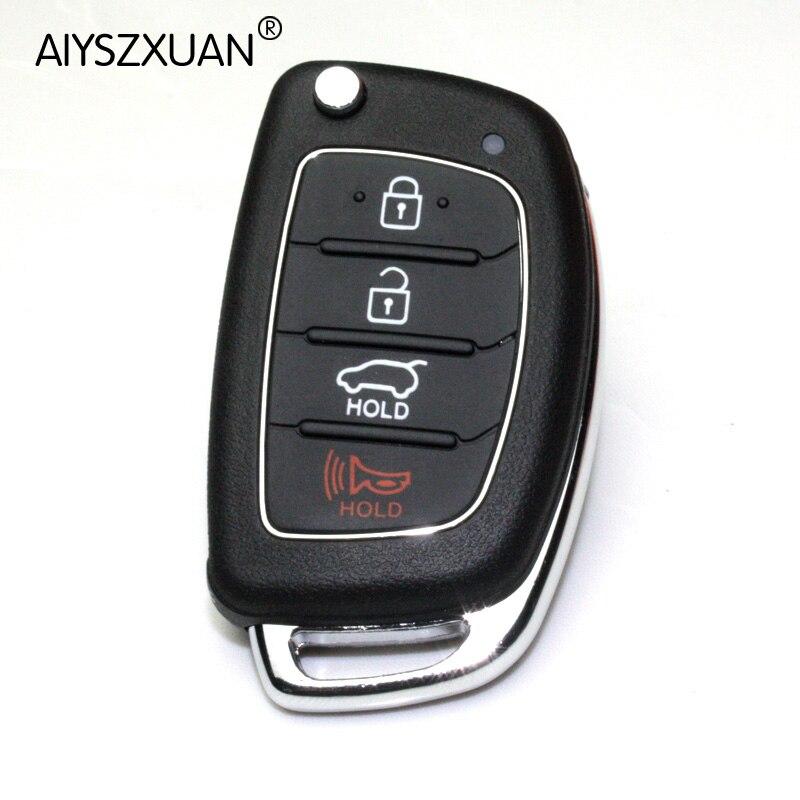 AIYSZXUAN Remote Key Case Fob 3 Button Flip Folding Key Shell For Mistra font b Hyundai