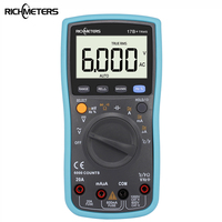 RICHMETES 17B 6000 Counts Digital Multimeter AC Voltage Current Meter Resistance Diode Capaticance Tester