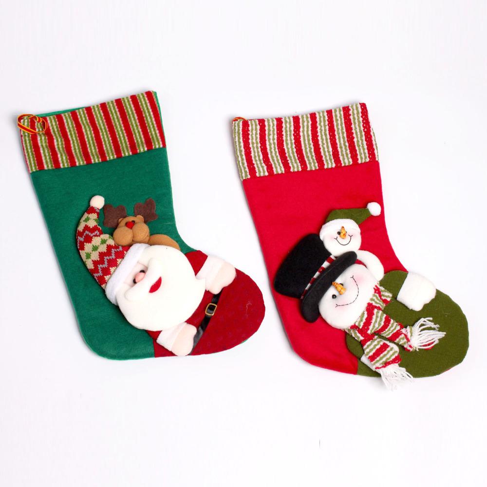 casa impresiones grandes medias de navidad decoracin estacional embroma el regalo bolsa de calcetines sombrero