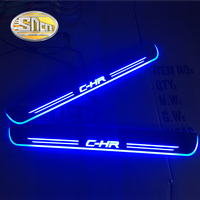 SNCN Acrylic Moving LED Welcome Pedal Car Scuff Plate Pedal Door Sill Pathway Light For Toyota