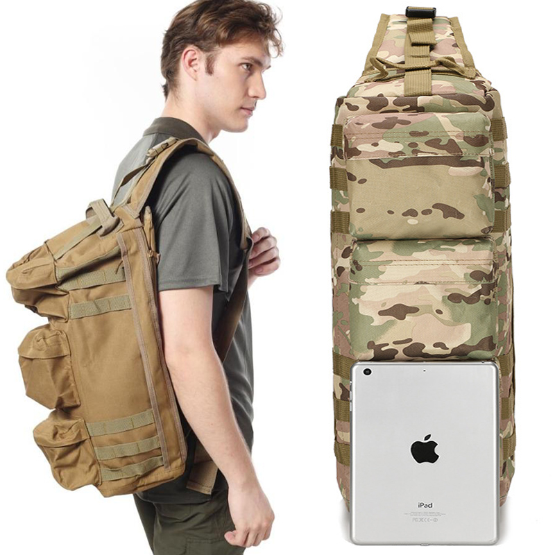Hot A ++ Military Tactical Assault Pack Backpack Army Molle - Beg sukan - Foto 6