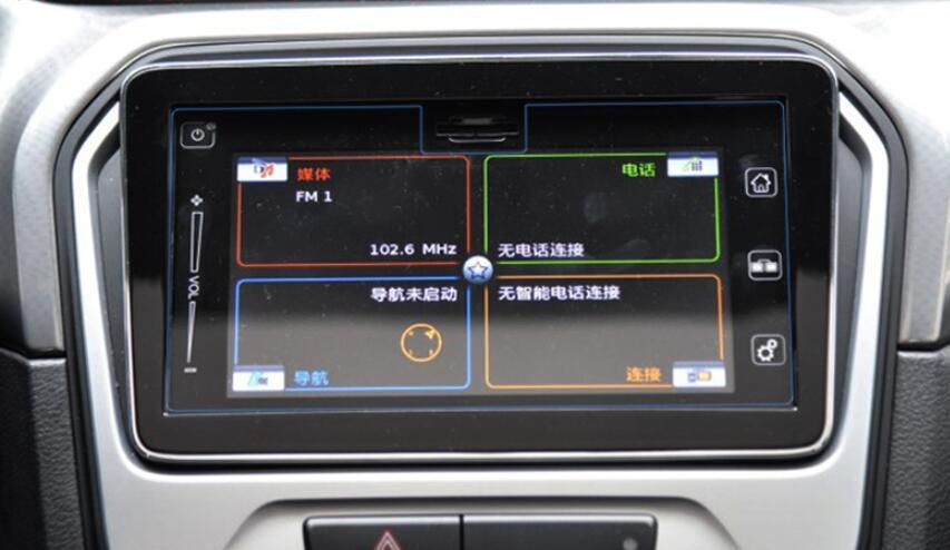 Car Tempered Glass Screen Protective Film For Suzuki Vitara 2015 2016 DVD GPS AutoRadio Stereo Multimedia Navi Headunit