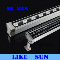 New 0.5M 9W LED Wall Washer Landscape light AC 85V 265V outdoor lights wall linear lamp floodlight 30cm wallwasher