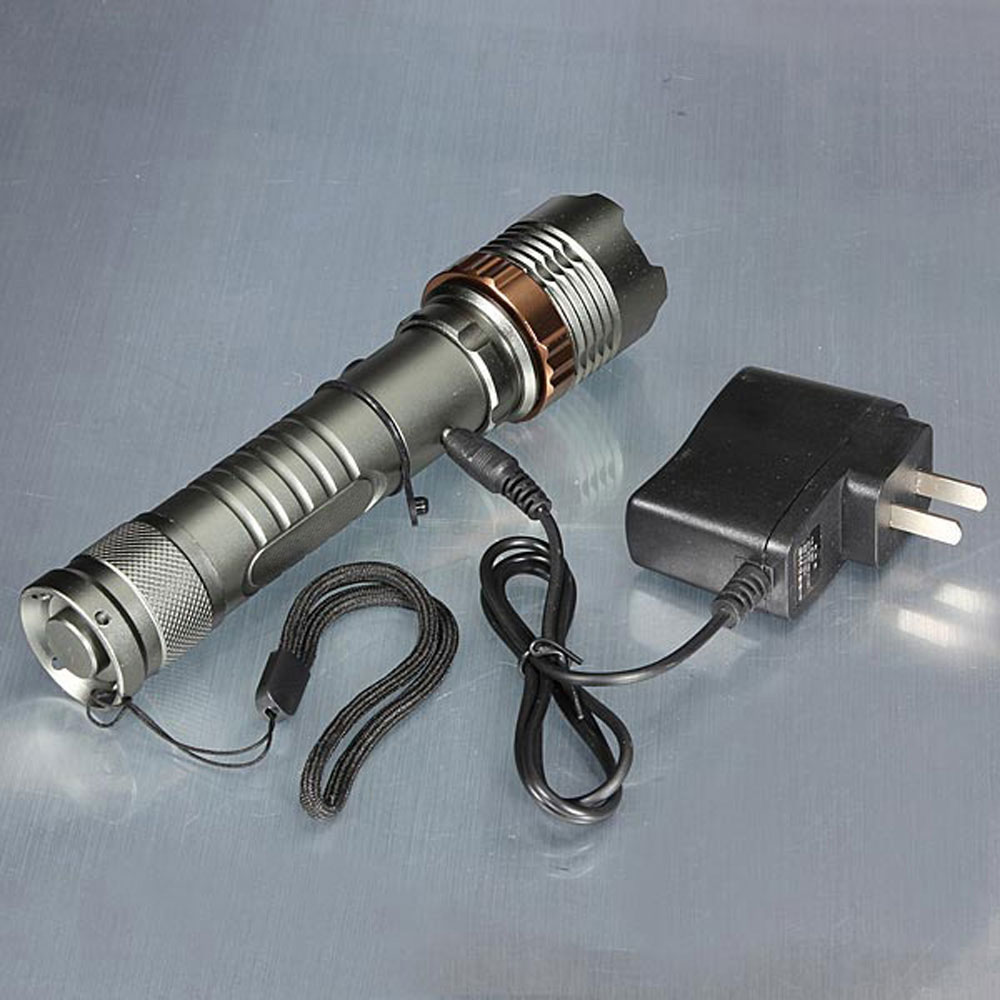 Led flashlight Ultra Bright torch T6L2V6 Camping light 5 switch Modes 10000 LM Zoomable Bicycle Light use 18650 battery (2)