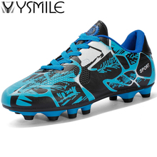 Long Spikes Boys Soccer Shoes Kids Sneakers Outdoor Children Football Shoes Cleats Turf Trainers Sports Shoes Athletic Foot Hot