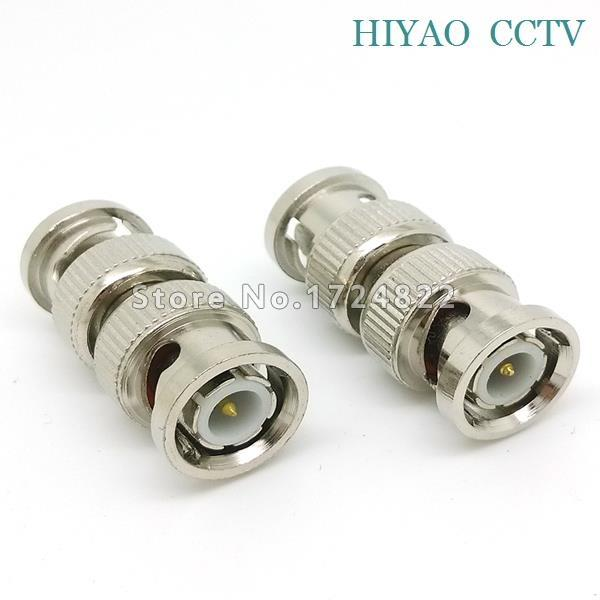 10pcs Splitter Plug Adapter BNC Connector male to BNC male Coupler for CCTV RG59 cable Security System & Video Camera evolylcam 25pcs gold bnc male video plug coupler connector to screw for rg59 cable adapter cctv security camera system converter