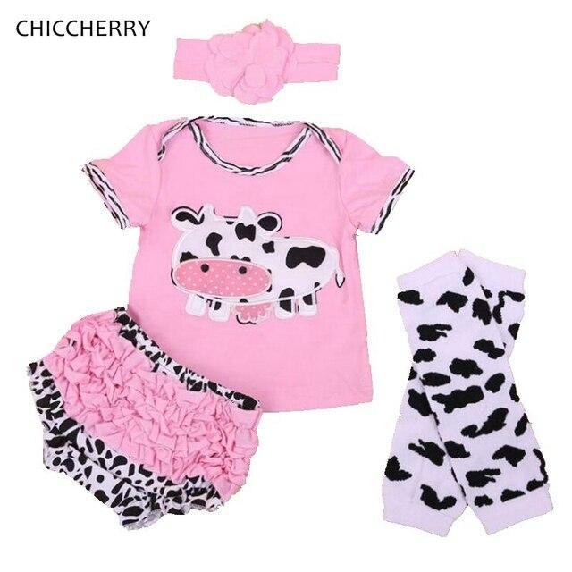 2f79e9d7e7f6d Rose Vache Bébé Fille Vêtements D été Enfant T-shirt En Dentelle Défaites +