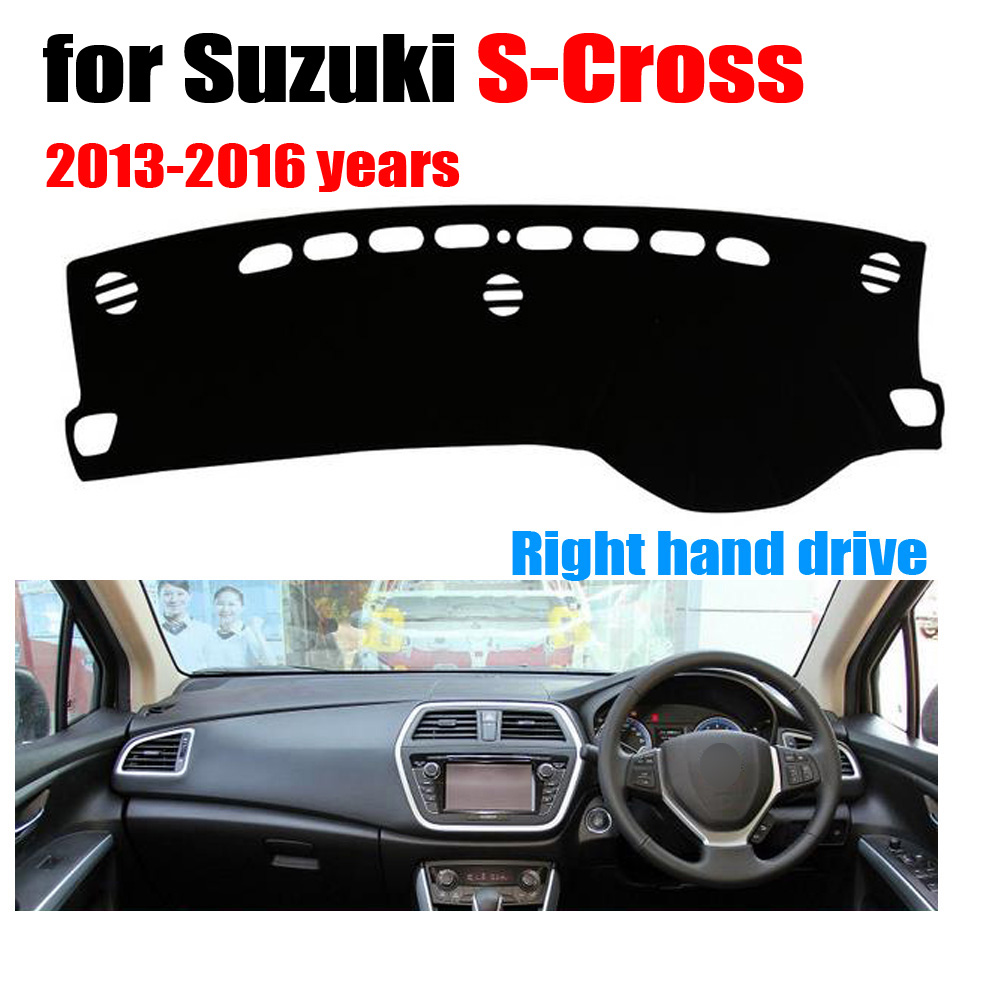 Car dashboard covers for Suzuki S-Cross 2013-2016 years Right hand drive dashmat pad dash cover auto dashboard accessories