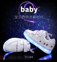 новый 2017 высокое качество прохладный светодиодной подсветкой повседневная обувь для детей мода обувь для мальчиков и девочек детская обувь светящиеся кроссовки