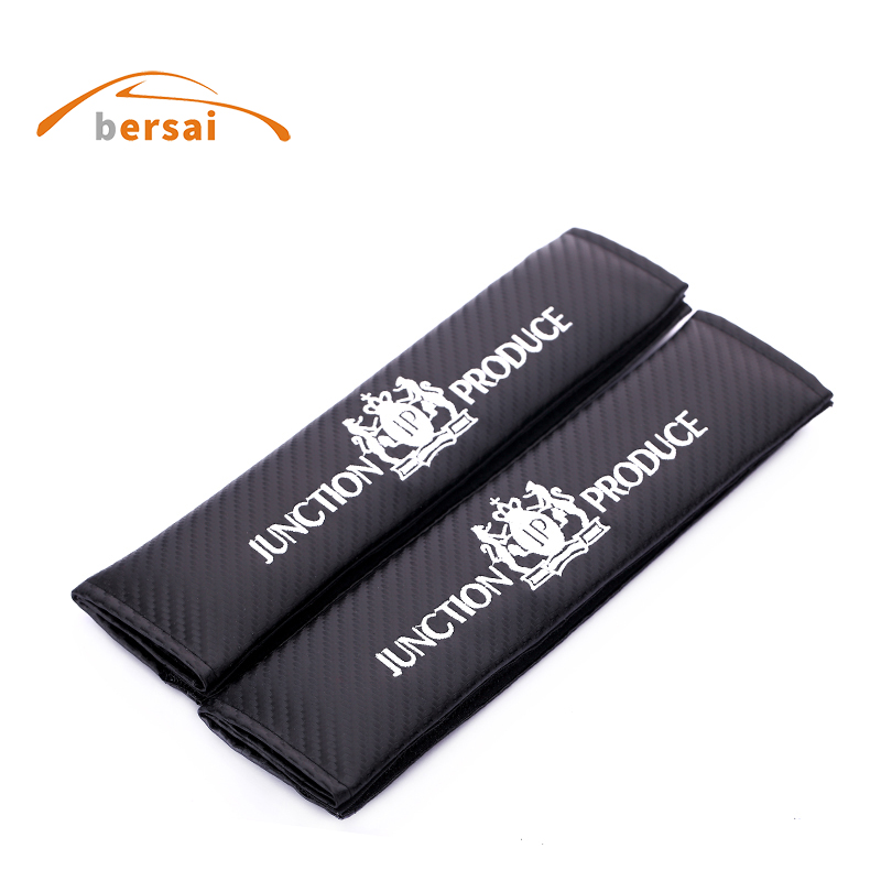 BERSAI Carbon fiber seat belt cover shoulder pad Car styling for Junction Produce JP VIP for mazda 3 6 CX4 5 TOYOTA accessories