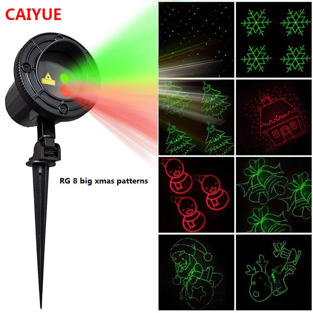 Christmas Laser Lights Outdoor Projector Motion 8 Xmas patterns Waterproof IP65 RF Remote for Garden Landscape Decoration christmas laser lights outdoor projector motion 12 xmas patterns waterproof ip65 rf remote for garden landscape decoration