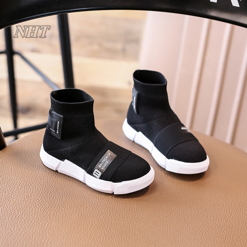 Nauhutu exclusive designer little girl's shoes toddler boys boots breathable air textile kids walking children footwear autumn