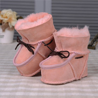 Children S Newborn Indoors Snow Boots Sneakers Breathable Flock Boots Boys And Girls First Walkers Warm
