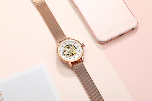 ORKINA Automatic mechanical watch women Rose Gold watch Lady relojes mujer women wristwatches Girl Dress Clock Montre Femme