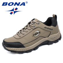 BONA New Typical Stlye Men Hiking Shoes Outdoor Jogging Trekking Sneakers Lace Up Men Athletic Shoes Comfortable Free Shipping