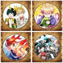 Anime My Hero Academia Badge Fashion Japanese Cartoon Buku No Ones Justice Round Metal Bag Brooches Pin