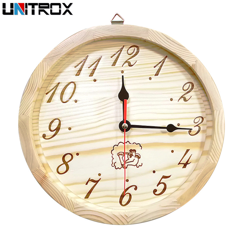 9 inch Sauna Timer Clock Sauna Accessories Decorative Wall Clock for Sauna Bedroom Living Room Simple Arabic Numerals For frame