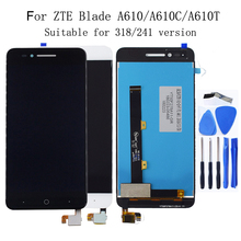 "5.0""Original display For ZTE Blade A610 LCD Monitor Touch Screen Digitizer Component Replacement A610C LCD 100% Test Work Screen цена в Москве и Питере"