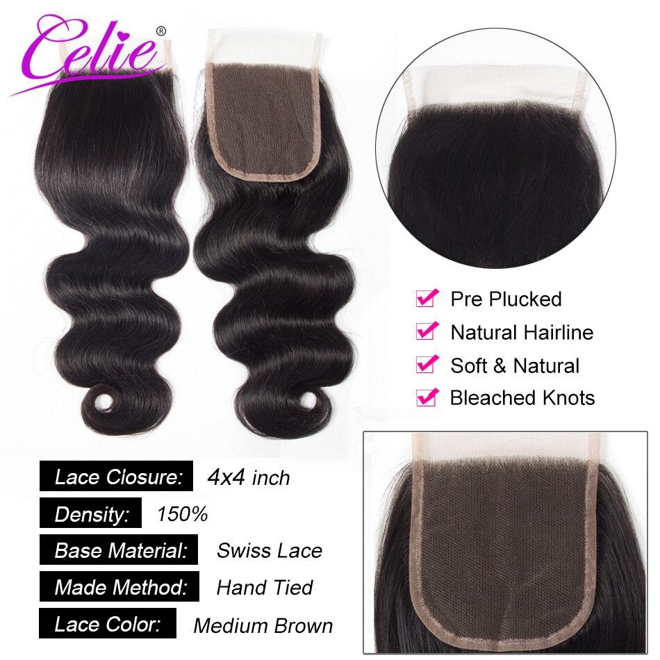 Celie Hair Body Wave Bundles With Closure Brazilian Hair Weave 3 Bundles With Lace Closure Remy Celie Hair Body Wave Bundles With Closure Brazilian Hair Weave 3 Bundles With Lace Closure Remy Human Hair Bundles With Closure