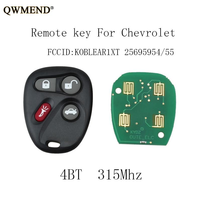 Car Key Fob Keyless Entry Remote fits 2001-2005 Chevy Impala Monte Carlo KOBLEAR1XT, 10443537 2004 Pontiac Grand Prix