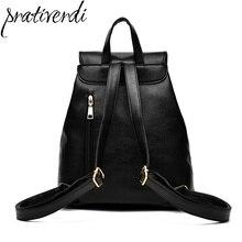 Известных брендов женщин рюкзак высокое качество из искусственной кожи Mochila Escolar школьные сумки для подростков девочек топ-ручка рюкзаки
