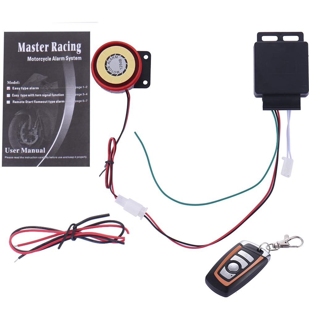 12v Motorcycle Scooter Alarm Remote Control Security Anti
