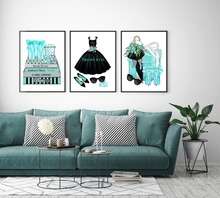 Modern Home Decor Fashion Women Book Canvas Paintings For Living Room Sofa Dress Gift Wall Art Pictures No Frame