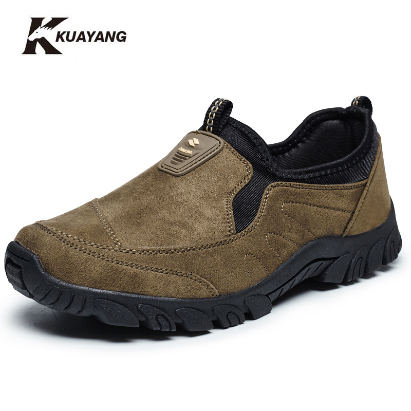 נעלי גברים מוגבלים zapatillas hombre בד Mens נעליים מכירות מקרית סתיו חורף להחליק על גומי בינוני (ב, ז) פלוק