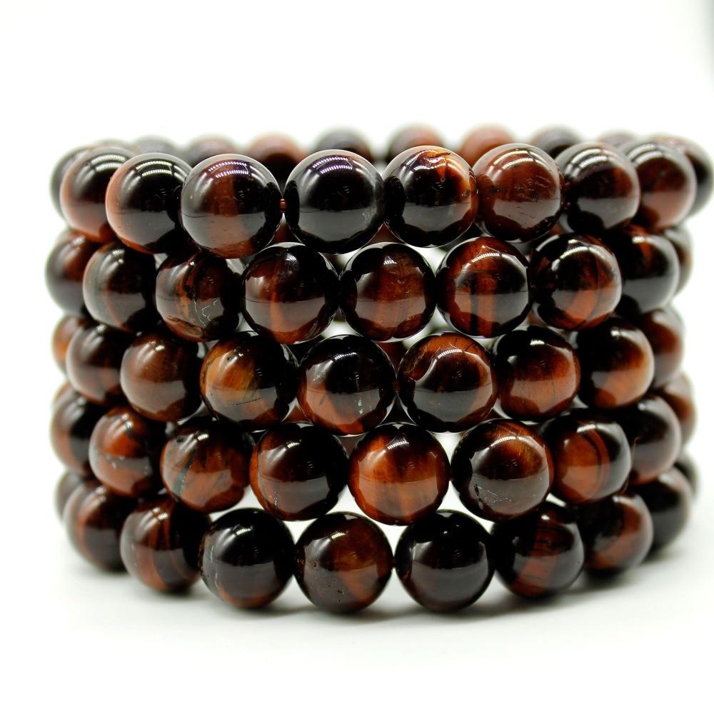 Natural Tiger eye bracelet round tiger eye gem stone bracelet with tiger eye beads natural beads bracelet stone size for choose