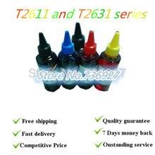 Dyebased пополнения чернил T2611 и T2631 серии, костюм для Epson xp 600 700 800 605 принтера