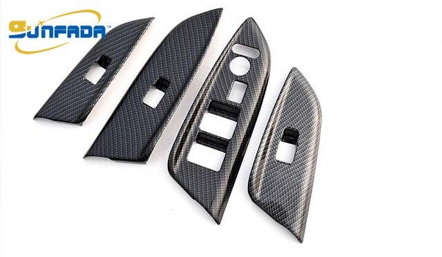 SUNFADACarbon Fiber Interieur Armsteun Decoratie Auto Covers ...