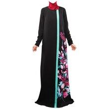 2019 Muslim Dress Long Robe Gowns Tunic Jubah Middle East Ramadan Arab Islamic Womens Fashionable Blue