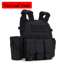 лучшая цена 6094 Tactical Vest Camoufalge Nylon Molle Tactical Vest Body Armor Hunting Airsoft Sport Military Combat Vest