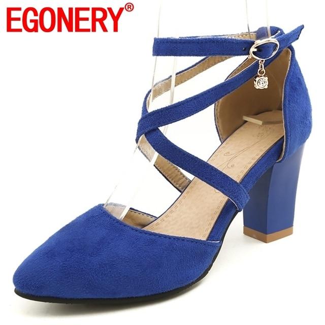 c1554620e8b9 EGONERY/брендовые классические женские босоножки на высоком каблуке в стиле  Хепберн; ...