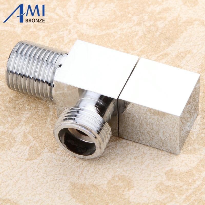 Bathroom hardware filling valve accessories square valve triangle valve  angle valve chrome polished Brass G1/2