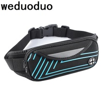 Weduoduo Outdoor Sports Bum Bag Running Belt Waist Pack Travel Zip Pouch Money Phone anti-theft Pack Belt Sport Bag недорого
