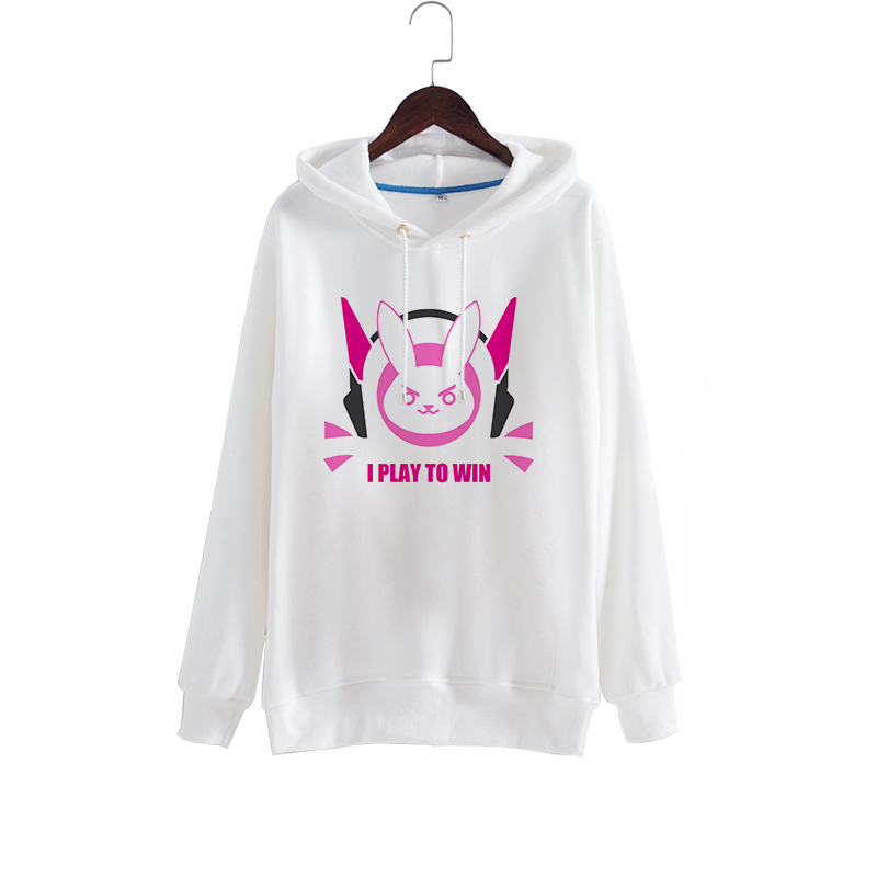 D.VA OW Cartoon Cosplay Costume Bunny Hoody Hoodie Sweatershirt Free Shipping For Women Men S/M/L/XL/XXL