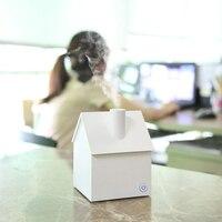 Creative Mini House Style USB Portable Air Humidifier Ultrasonic Essential Oil Aroma Diffuser Home Office Mist