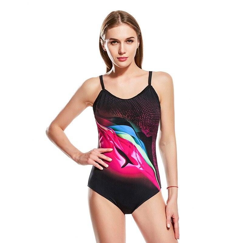 Athletic Training Trikini Sport Swimsuit One Piece Bathing Suit Women Monokini Racing Plus Size Swimwear Sexy Halter Swimsuit