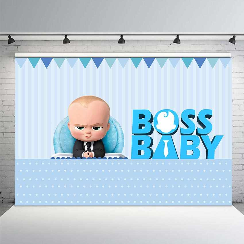 Mehofoto Boss Baby Shower 1st Birthday Party Backdrop For
