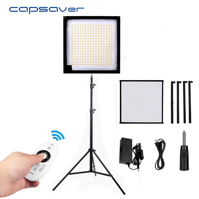 Capsaver Fl 3030 Led Video Light With Tripod Flexible Photography Lighting Panel 30