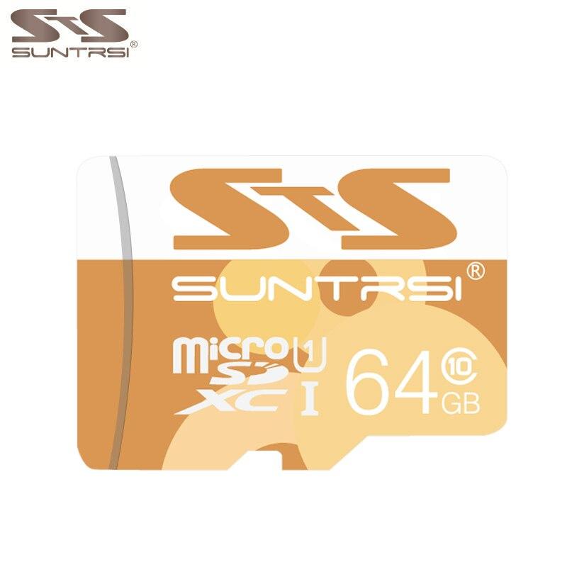 Suntrsi MicroSD карты 16 ГБ 32 ГБ 64 ГБ Class 10 высокая Скорость Micro SD карты TF карты для смартфона и цифровой хранения smart card ...