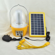 36 LED Solar Dimmable Lights 4 in 1 desk Lamp Solar and AC charged Tent Lighting with FM radio and MP3 player