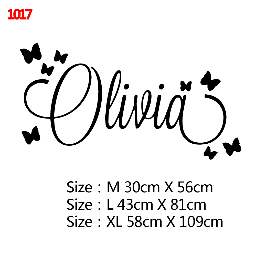 Large Size Personalized Custom Name Wall Sticker Art Decal Babys Wall Stickers For Kids Girls Boys Room Decoration Bedroom Mural 4