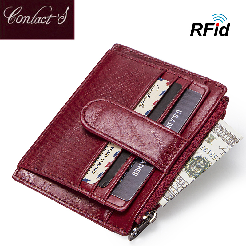 Fashion Genuine Leather Women Card Holder Wallets High Quality Female Credit Card Purse With Zipper Coin Pocket RFID Design 2017 fashion new leather purse for women high quality long women wallets with zipper coin pocket card holders carteira feminina