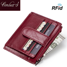 Fashion Genuine Leather Women Card Holder Wallets High Quali
